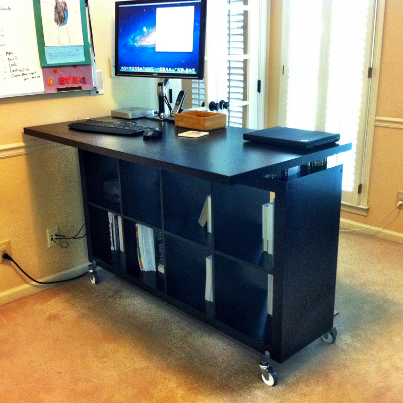 After Reading All About The Benefits Of A Standing Desk I Had Been Wanting To Build One For My Home Office Some Time So Seeing This Post On Ikea
